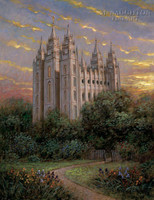 Gate to Heaven - Salt Lake Temple 24x30 LE Signed & Numbered - Giclee Canvas