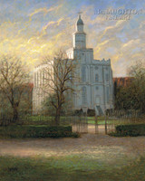 St. George Temple 18x22 LE Signed & Numbered - Litho Print