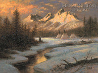 Spirits of Tetons 18x24 LE Signed & Numbered - Giclee Canvas