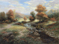 Autumn Solitude 28x35 - Giclee Canvas