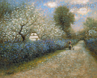 Blossom Lane 20x24 LE Signed & Numbered - Giclee Canvas