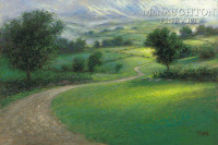 Misty Hills 12x18 OE Signed by Artist - Giclee Canvas