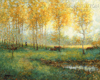 Path of Gold 20x28 LE Signed & Numbered - Litho Print