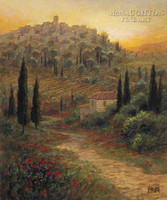 Evening in Tuscany 11x14 LE Signed & Numbered - Giclee Canvas