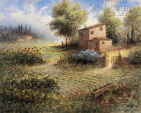 Tuscan Farm 16x20 LE Signed & Numbered - Giclee Canvas