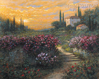 Tuscan Garden 20x24 LE Signed & Numbered - Giclee Canvas