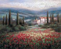 Tuscan Hills 20x30 LE Signed & Numbered - Giclee Canvas