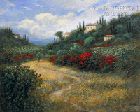 Tuscan Red 16x20 LE Signed & Numbered - Giclee Canvas