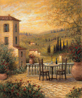 Tuscan View for Two 24x30 LE Signed & Numbered - Giclee Canvas