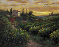 Tuscan Vineyard 11x14 LE Signed & Numbered - Giclee Canvas