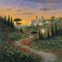Umbrian Hills 30x30 LE Signed & Numbered - Giclee Canvas