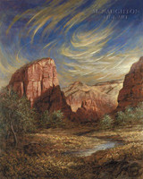 Angels Landing 20x24 LE Signed & Numbered - Giclee Canvas