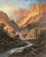 Canyon Depths 28x35 - Giclee Canvas
