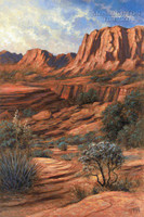 Canyon Shadows 28x35 - Giclee Canvas