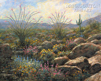 Desert Bloom 11x14 LE Signed & Numbered - Giclee Canvas