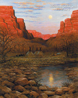 Desert Moon 28x35 - Giclee Canvas