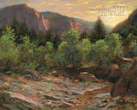 Kolob Evening 20x24 LE Signed & Numbered - Giclee Canvas