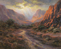 Paradise Canyon 28x35 - Giclee Canvas