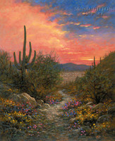 Superstition Trail 16x20 LE Signed & Numbered - Giclee Canvas