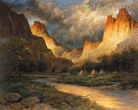 Thunder Canyon 24x30 LE Signed & Numbered - Giclee Canvas