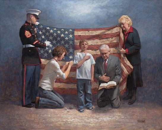 Mending The Nation 11x14 Litho Print Mcnaughton Fine Art