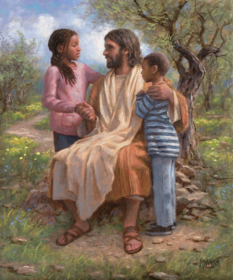 He Loves The Children 11x14 Giclee Canvas Mcnaughton