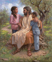 He Loves the Children 11X14 - Giclee Canvas