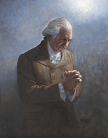 Washington's Prayer 16x20 LE Signed & Numbered - Giclee Canvas