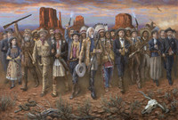 Wild Wild West, 20X30, limited edition, Lithograph *
