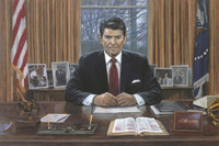 Ronald Reagan - It Can Be Done, 16X24 Canvas Giclee, Limited Edition, 100 S/N