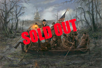 SOLD OUT - Crossing the Swamp - 20x30 Canvas Giclee, Limited Edition, S/N 200