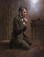Lincoln's Prayer - 16X20 Print, Signed Open Edition