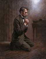 Lincoln's Prayer - 11X14 Litho
