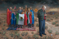 National Emergency - 16X24 Canvas Giclee, Limited Edition, S/N Edition 200