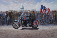 MAGA Ride - 16X24 Canvas Giclee, Limited Edition, S/N Edition 300