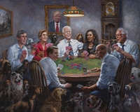 Democrats Playing Poker - 11X14 Litho