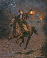 Modern-day Paul Revere - 16X20 Canvas Giclee, Limited Edition, S/N Edition 200