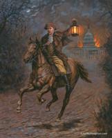 Modern-day Paul Revere - 24X30 Canvas Giclee, S/N 100