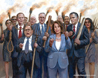 The Impeachment Mob - 11X14 Litho