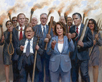 The Impeachment Mob - 24X30 Canvas Giclee, S/N 100
