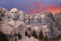 Trump Rushmore - 12X18 Inch Canvas Giclee Print, Open Edition