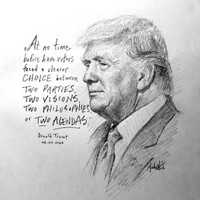 Trump Choice Sketch - 12x12 Litho, signed and numbered (100)