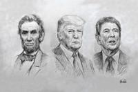 Three Great Presidents - 10x15 inch Litho Print