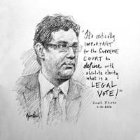 Dinesh D'Souza Sketch - 12x12 Litho, signed and numbered (20)