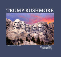 McNaughton January Collectable T shirt - Trump Rushmore