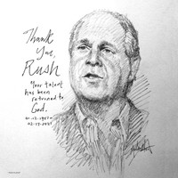 Thank You, Rush Sketch - 12x12 Litho, signed and numbered (200)