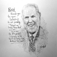 Rush, Thank You For Your Service Sketch - 12x12 Litho, signed and numbered (100)