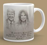 McNaughton March Collectors Mug - Trump and Melania