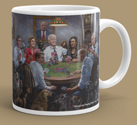 McNaughton April Collector's Mug - Democrats Playing Poker