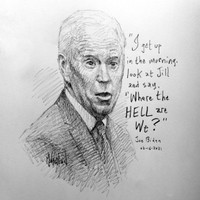 Biden Hell Sketch - 12x12 Litho, signed and numbered (50)